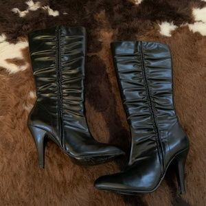 Black high heel boots size 6